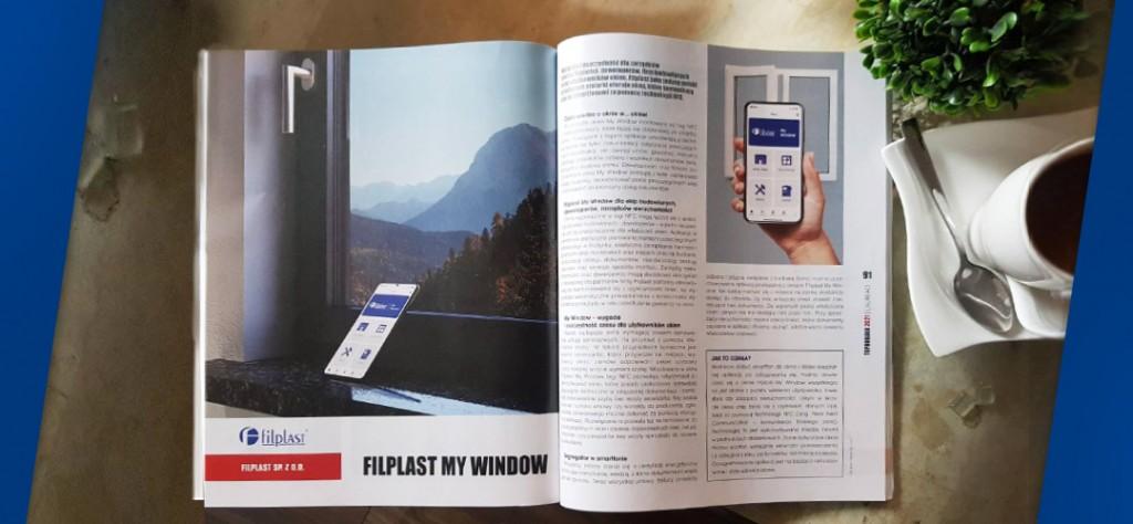 Artykuł informujący o nowości. Teraz w ofercie Filplast inteligentne okno - Filplast My Window.
