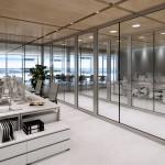ścianki działowe w nowoczesnym biurze